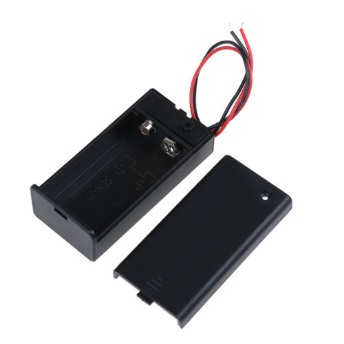 9V Volt PP3 battery holder box dc case w// wire lead on//off switch cover YH