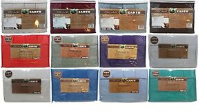 Organic Earth 1800 Count Bamboo With Aloe Vera 6 Pc Sheet Set King