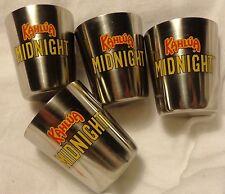 Kahlua Set of 4 Shot Glasses....All Metal Shot....Shiny...Stainless Steel?...NEW
