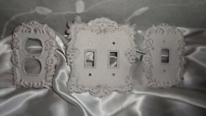 Details About Switch Plate Cover Shabby Distressed Outlet Double Single Antique White