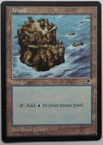 ISLAND Magic The Gathering 2ED V3 unlimited used card land MTG