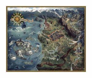 Witcher 3 Wild Hunt Puzzle Karte der Nördlichen Königreiche - Dark Horse