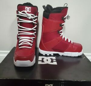NEW-DC-Phase-Snowboard-Boots-2015-Rare-Red-White-Color-Size-9-5-Mens