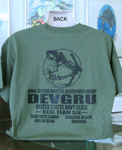 U.S. Navy SEALs Frog Skeleton DEVGRU T-Shirt Seal Team 6 Six ... 61118b68f0c