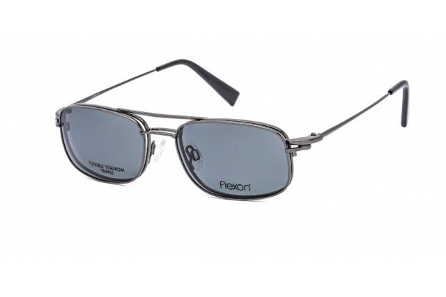 NEW FLEXON Eyeglasses FLX 900MAG-SET 033 Gunmetal 55MM//18//140 FRAME ONLY NO CLIP