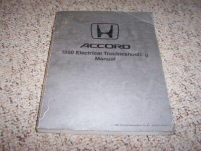 1990 Honda Accord Electrical Wiring Diagram Manual DX LX ...