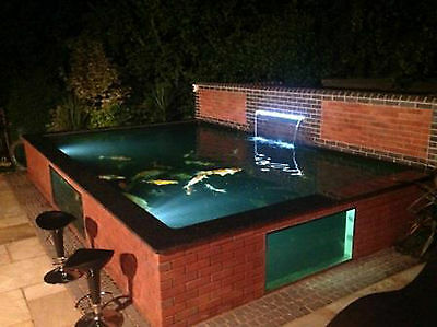 Build a Pond with a Koi Pond Window and Frame -Pond Construction / on above ground garden ponds ideas, diy small water feature ideas, raised garden pool ideas, raised pond kit, raised flower bed with pond, raised pond preformed, raised bed garden with pond, brick wall outdoor fountain ideas, raised turtle pond, raised koi pond, raised garden pond plans, raised garden for small ponds,