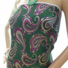 cbs-605-Chinese Brocade Fabric dark jewelry green w paisley pattern cloth