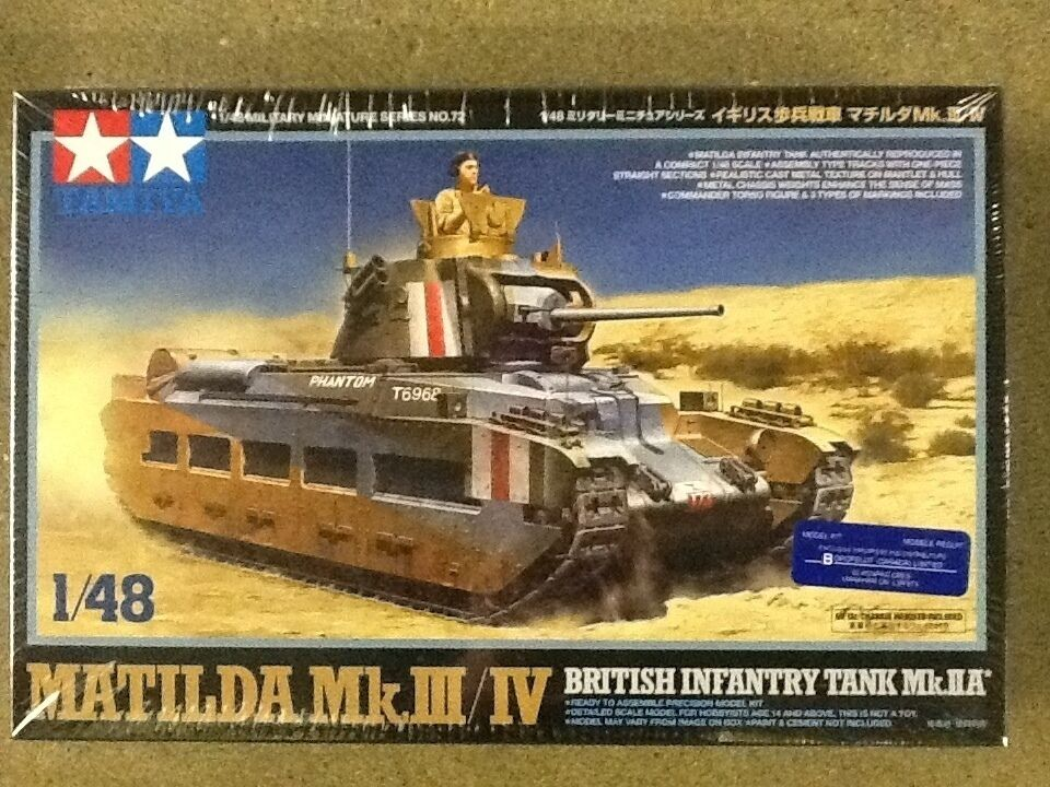 TAMIYA 1 48 British Matilda Mk. III IV Tank  Model Kit FACTORY SEALED