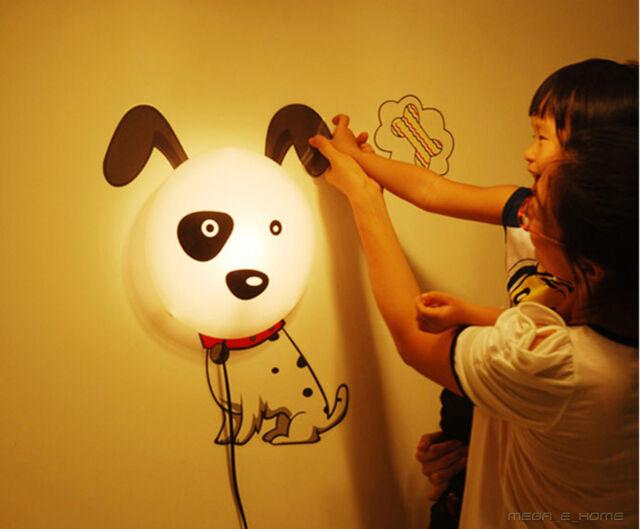 Removable Wall Sticker Light Sunflower Pig Dog Lamp 5 Designs Kids Night light