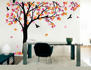 Giant Maple Tree Wall Stickers Kid Nursery Decor Removable ...