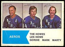 1974 75 OPC O PEE CHEE WHA 1 GORDIE MARK MARTY HOWE VG-EX HOUSTON AEROS HOCKEY