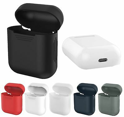 For Apple AirPods Earphones Headset Soft Silicone Cover Case Skin Sleeve Bag