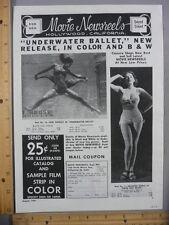 Rare Original VTG 1946 Frances Vorne Haber & Fink Advertising Art Print