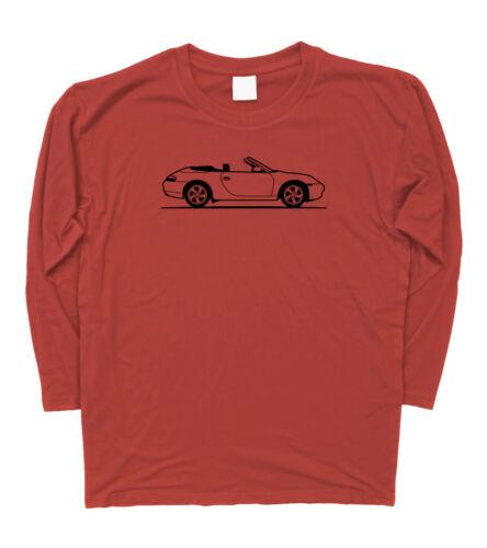 Mens Original Sketch Porsche 911 Carrera Convertible Long Sleeve T-Shirt S 3XL