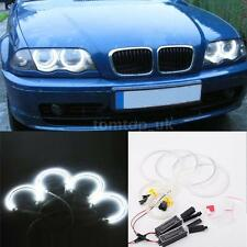 White 4pcs CCFL Angel Eye LED Halo Ring Light Kit For BMW E46 3 Series M3 6000K