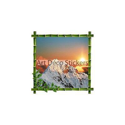 Sticker porthole trompe l/'oeil turtle h337 h337