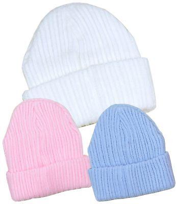 BabyPrem Baby Boys Winter Warm Knitted Beanie Hat 0-6m Blue /& White Hats