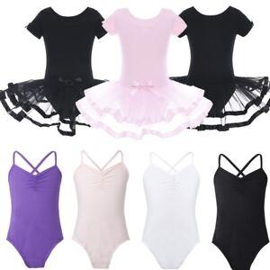 Kids-Girls-Dance-Leotard-Dress-Ballet-Bodysuit-Ballerina-Skating-Costume-Clothes