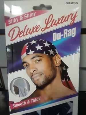 Set of 2 Glitter Red /& purple Smooth /& Thick Shiny /& Silky Deluxe DuRag