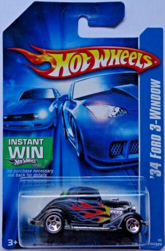 2006 Hot Wheels /'34 Ford 3-Window Col Instant Win Card #190