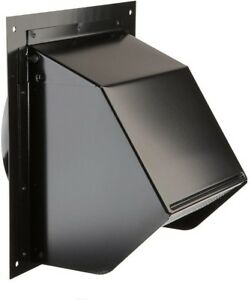 wall vent cover exterior cap 6 inch duct vent black exhaust fan
