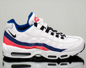 new concept 96674 c3c41 Details about NIKE AIR MAX 95 ESSENTIAL WHT/BLUE/RED MEN's SHOES 90 97 1  plus ultra vapormax