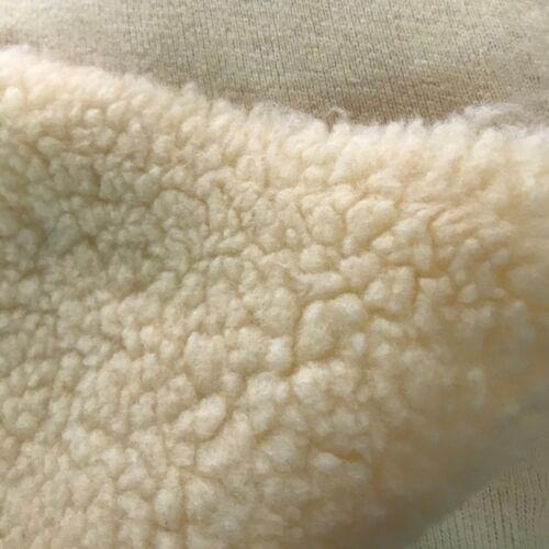 SHERPA FLEECE FABRIC CREAM Supersoft Lamb Cuddle Fur Toys Sheep Soft Clothing