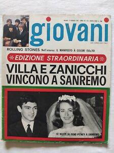 RIVISTA-GIOVANI-N-6-1967-GIULIANO-GEMMA-NOMADI-CLAUDIO-VILLA-IVA-ZANICCHI