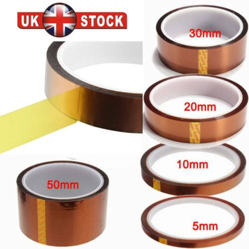 5-50mm 33M Heat Resistant Tape High Temperature Polyimide Kapton Fixation Tape A