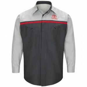 Red Kap Shirt Toyota Technician LONG Sleeve Work Uniform Shirt SP14TT