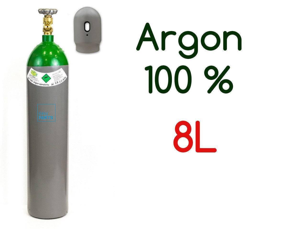 NEW PLEINE BOUTEILLE CYLINDRE DE GAZ ARGON 100% 8 LITRES 200 BAR