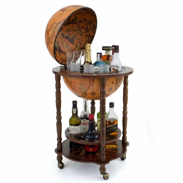Globe Bar Globe Drinks Cabinet Art 40 Genuine Made in Italy w/ Certificate  NEW - Wooden Bar Globe Drinks Cabinet Art 40 Italian EBay