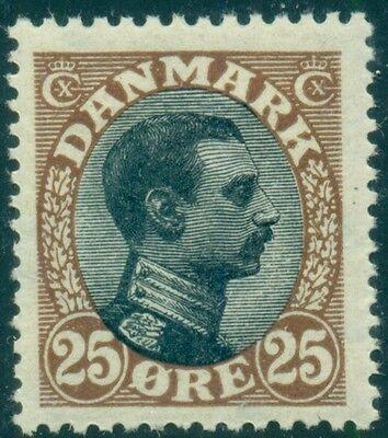 DENMARK #107, 25ore Chr. X, og, NH, VF, Scott $255.00