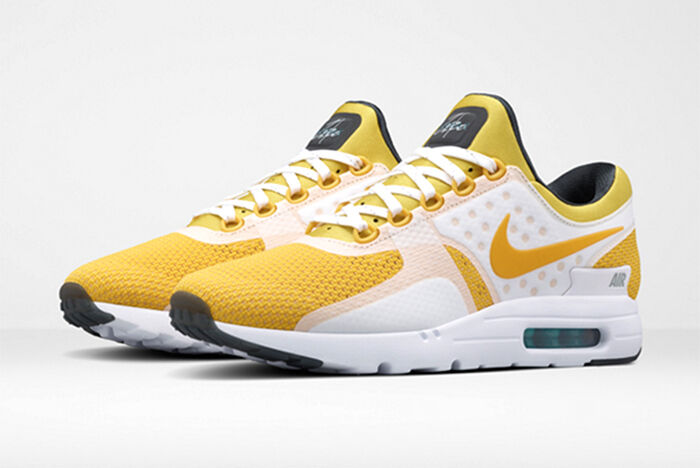 2016 Nike Air Max Zero Yellow White Tinker Hatfield QS Size 15 789695-100 Jordan