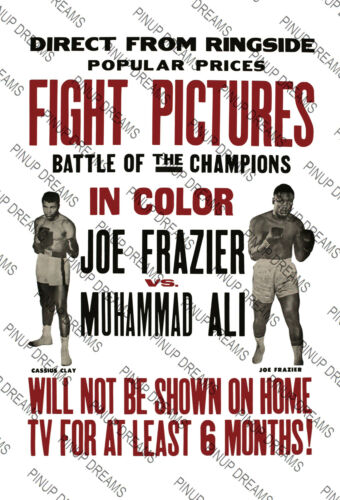 Boxing Poster re-print Classic Joe Frazier Vs Muhammad Ali Art Print Various