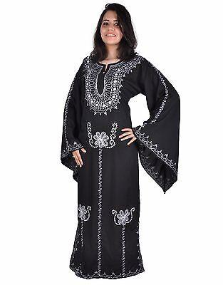 Egypt Bazar Caftan Romantique Style ann/ées 70 Noir