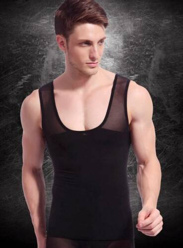 Mens Slimming Compression Undergarment Vest for Man Boobs Moobs Gynecomastia Top