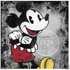 XXL MICKEY MOUSE WANDBILD LEINWAND KEILRAHMEN,BILD,DISNEY,76x76cm ...