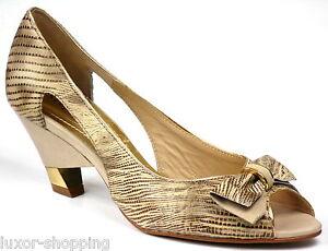 STEPHANIE-Classic-Leder-beige-Gr-40-NEU-Damen-Schuhe-Peep-Toe-Pumps-Sandalen