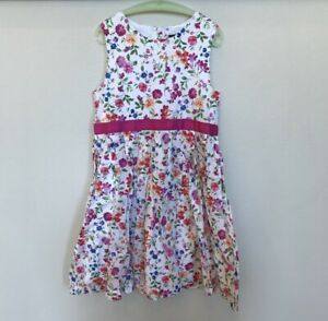 LANDS-039-END-Girl-039-s-Floral-Spring-Garden-Party-Birthday-Party-Dress-Size-10-EUC