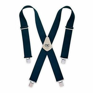 Custom Leathercraft 110BLU Heavy-Duty Work Suspenders, One Size, Blue