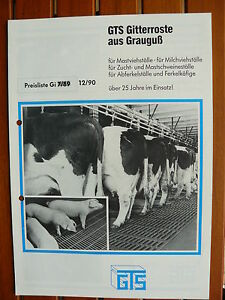 Constructif Gts Surfaces De Travail-liste De Prix-prospectus Brochure 12.1990 (0500-afficher Le Titre D'origine