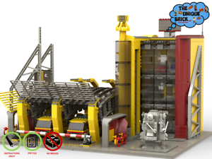 Lego Moc Airport Fire Station Custom Model Pdf Instructions