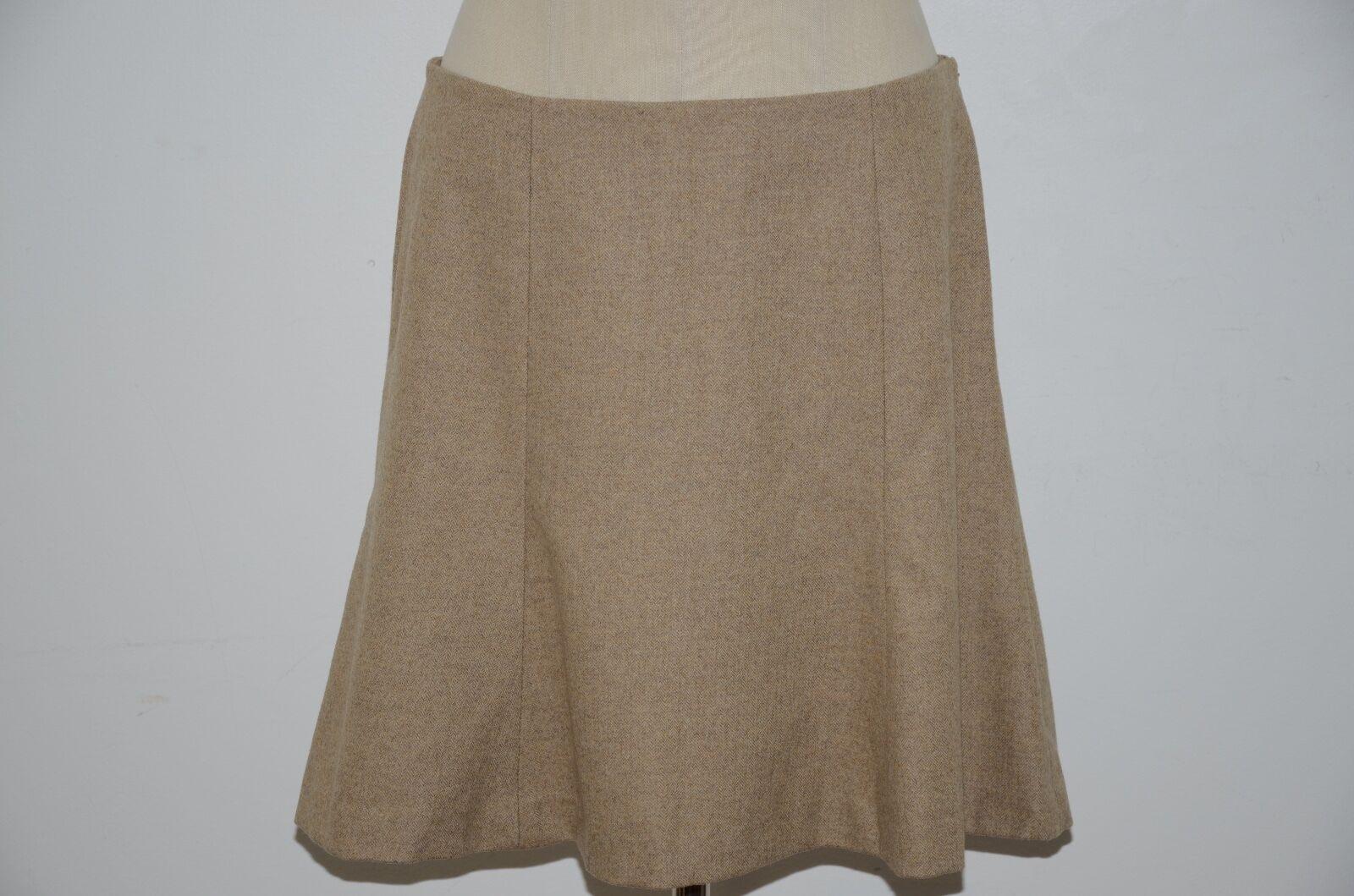 Ralph Lauren bluee Label Silk Lined 100% Wool Herringbone Skirt 12