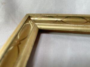 "ANTIQUE Fits 8"" x 10"" LEMON GOLD GILT STENCILED FRAME FINE ART VICTORIAN"