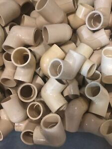 HUGE-Lot-of-100-CPVC-3-4-034-Elbow-90-Degree-Plastic-Pipe-Fitting-4120