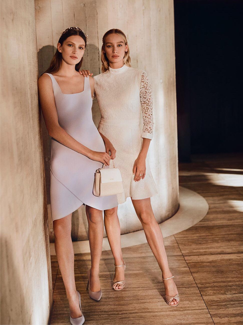 NEW NWT  Designer WITCHERY Flare Hem Milano Knit DRESS  M  L
