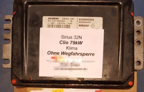 Steuergerät ohne WEGFAHRSPERRE Sirius 32//N  Twingo Clio Megane Scenic Kangoo