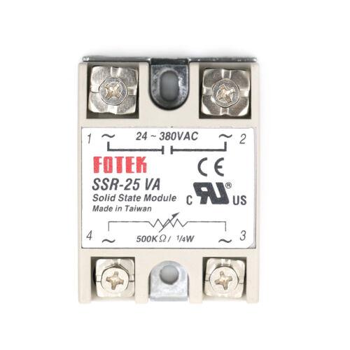 Ssr-25Va Ac 24-380V 25A Solid State Relay For Pid Temperature Controller DG